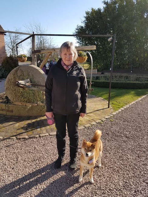 Anne with a very happy pooch!