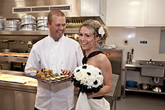 Chef Anthony Morgan with one of our beautiful Brides